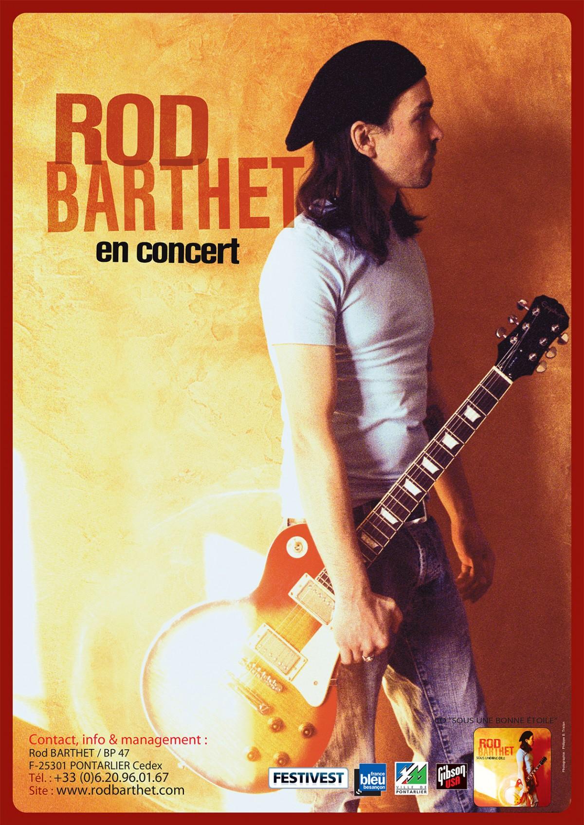 Affiche concert de Rod Barthey