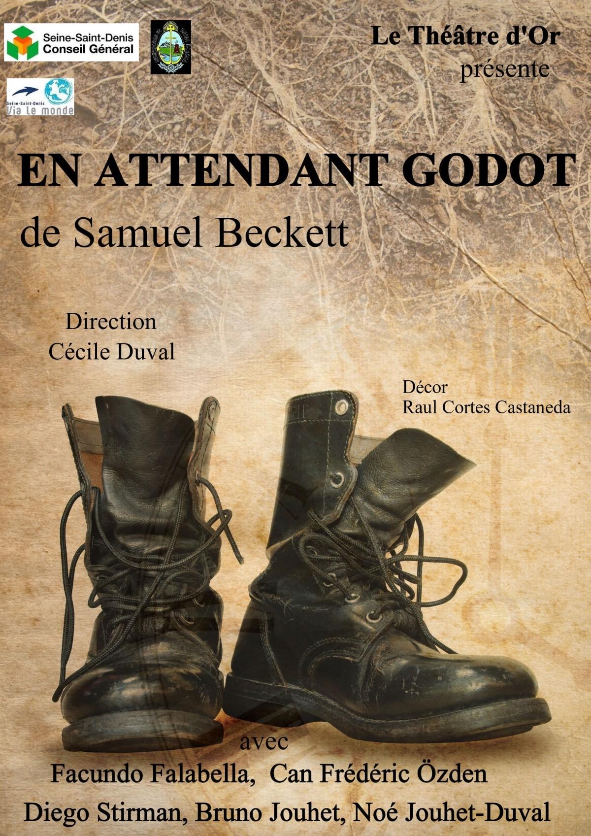 Affiche du spectacle En attendant Godot