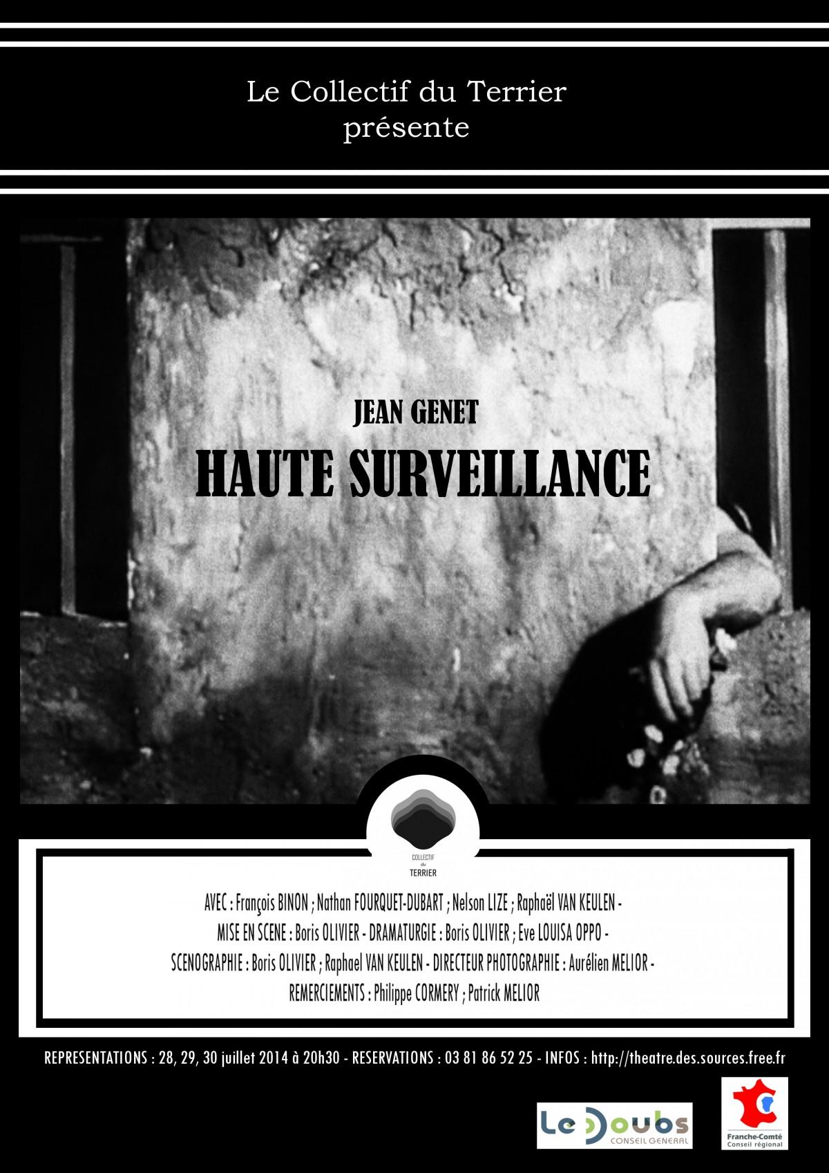 Haute surveillance de Jean Genet, une création du Collectif du Terrier